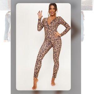 leopard print onesie Pretty little thing